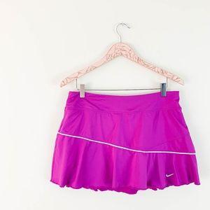 Nike Flounce Tennis Skirt LG Purple Ruffle Flare